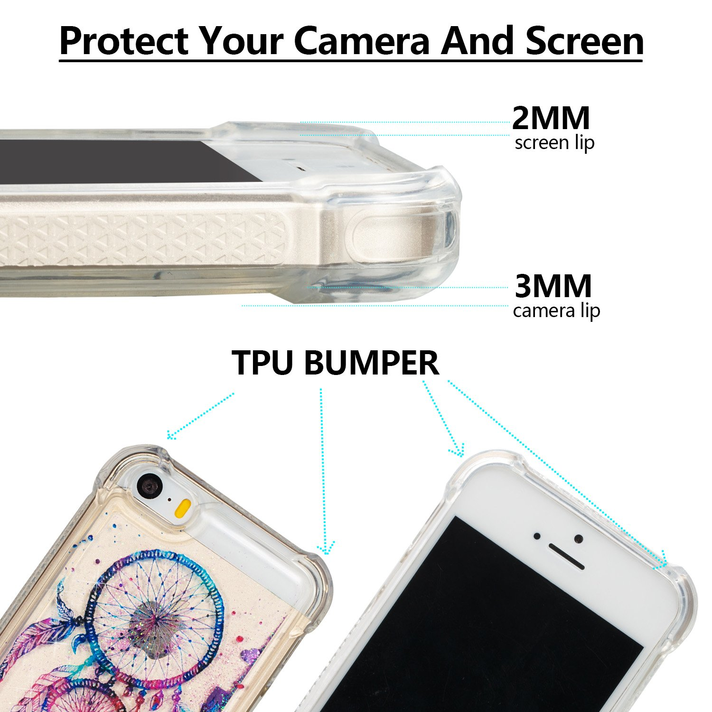 4597048bea3 Funda iPhone X,TOUCASA Glitter Brillante Liquida Transparente TPU Silicona,Suave  Gel Protectora Carcasa