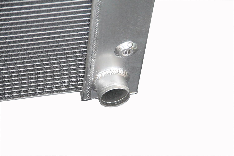 ZC337 3 Rows All Aluminum Radiator Fit 1967-1969 Chevy Camaro//Pontiac Firebird 21 Core