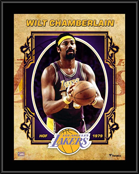 "cad4adfd043 Wilt Chamberlain Los Angeles Lakers 10.5"" x 13"" Sublimated Hardwood  Classics Player Plaque -"