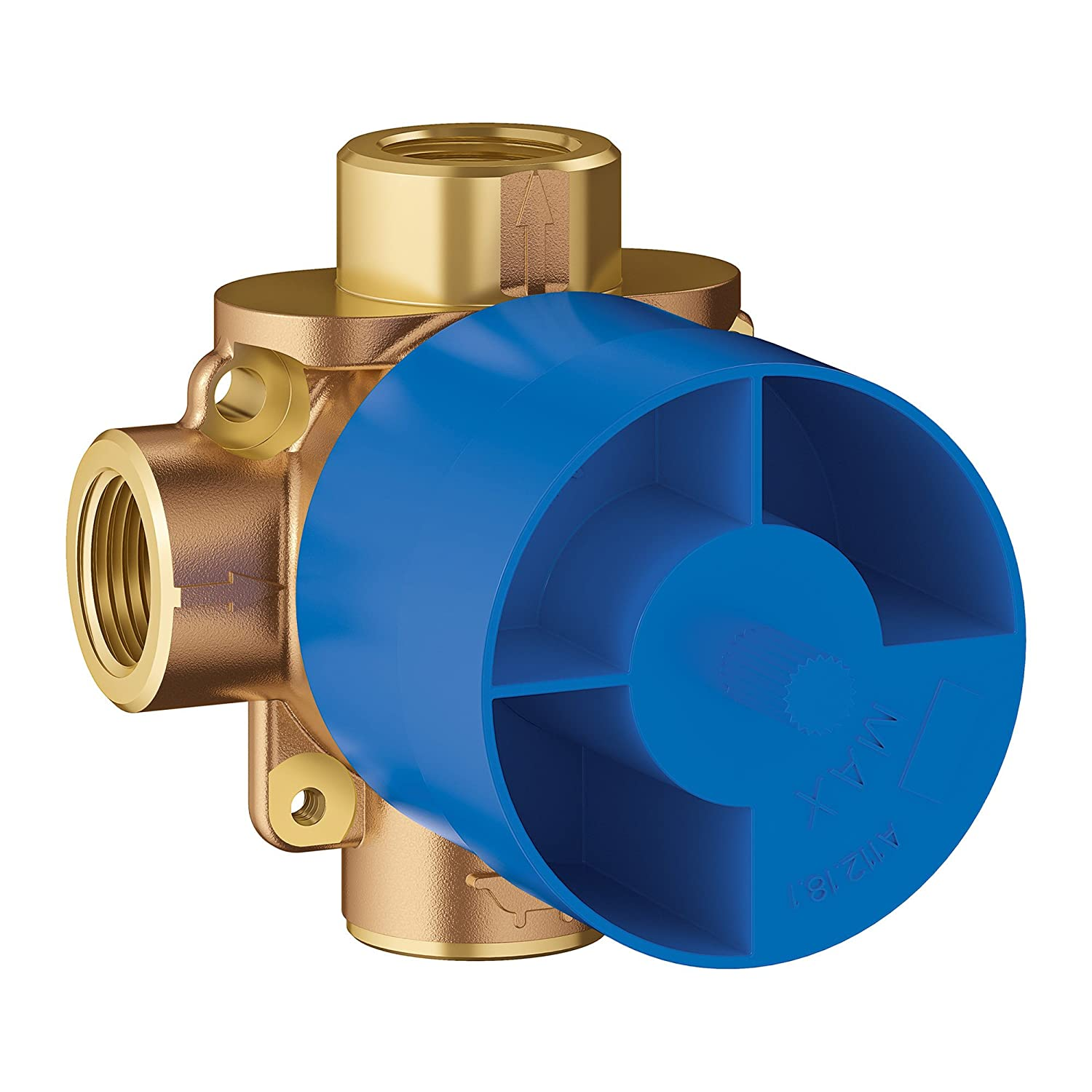 3-Way Pressure Balance Rough Valve Grohe 29902000 Concetto 1//2 in Brass