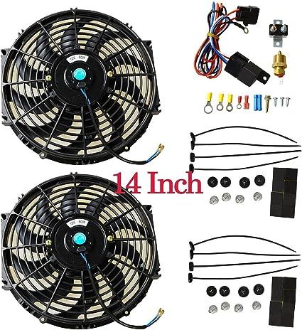 "10/"" inch Electric cooling fan Radiator RACING mounting kit Universal"