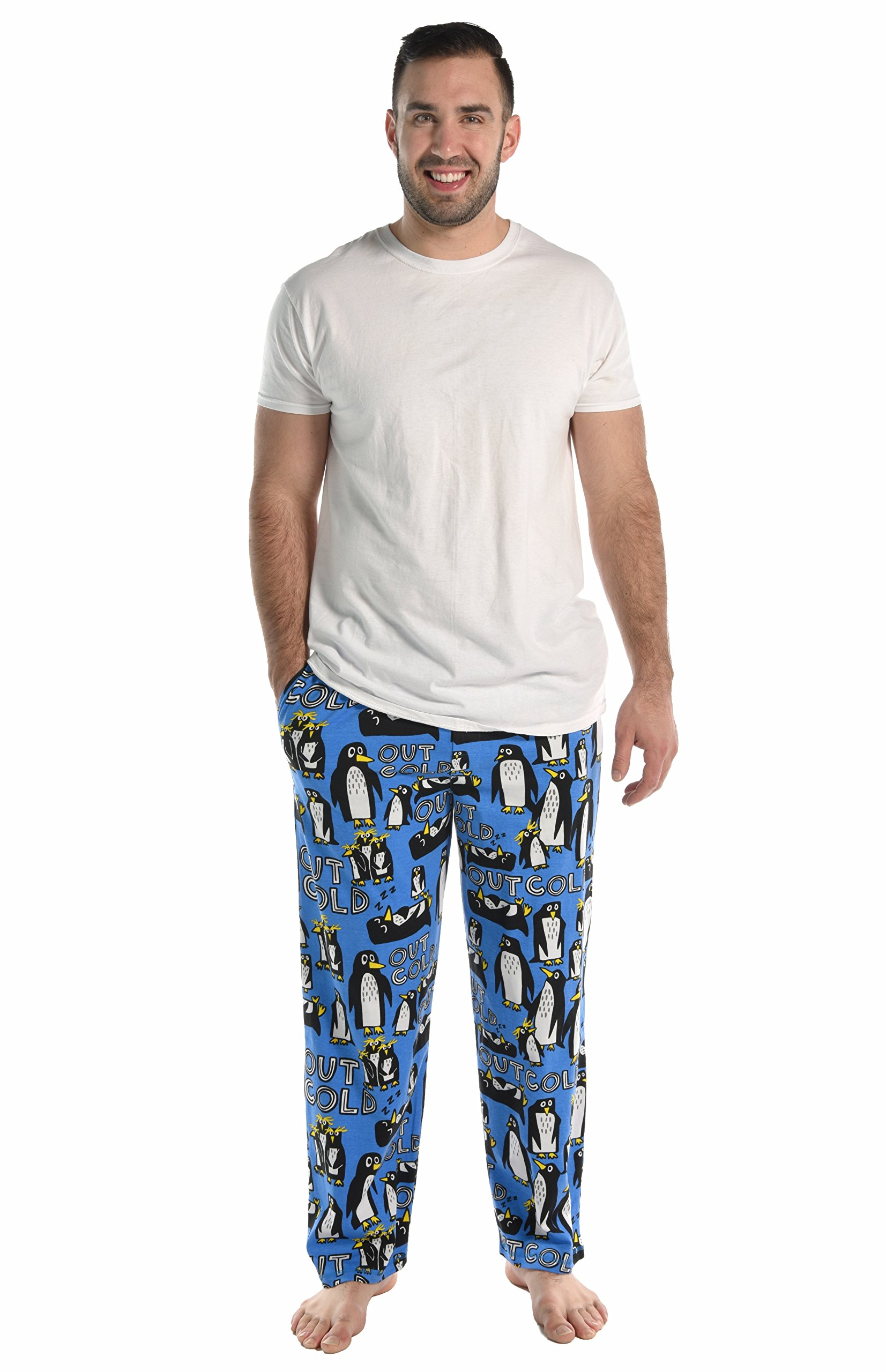 Out Cold Men's Pajama Pants Bottom by LazyOne | Pajama Bottom for Men (Large) by Lazy One (Image #3)