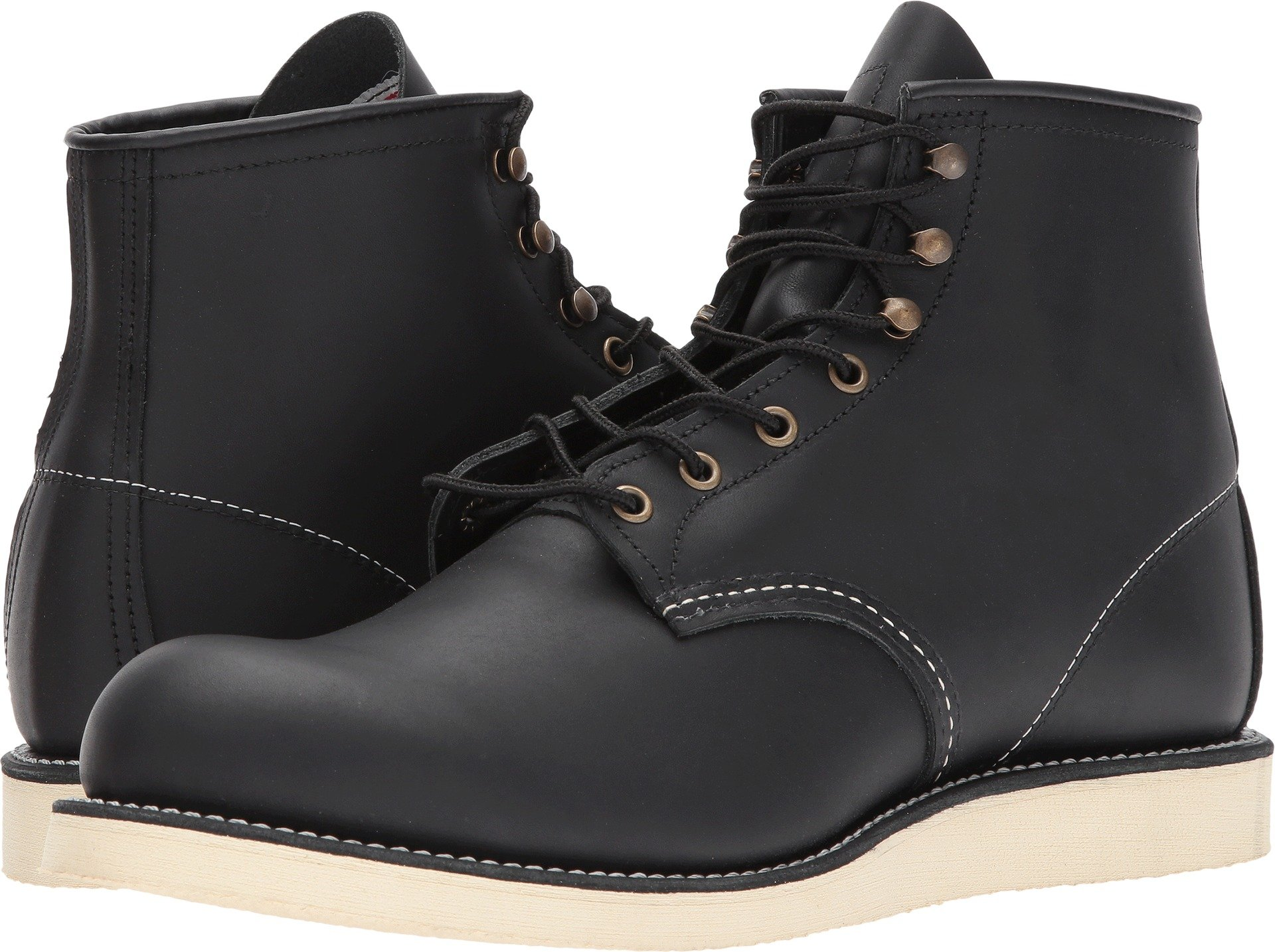 Red Wing Heritage Men's 6'' Rover Round Toe Black Harness Boot