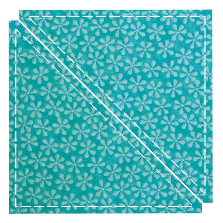 AccuQuilt Go Fabric Cutting Dies, Triangle 6-1/2-Inch, Quilt Block C 550-01