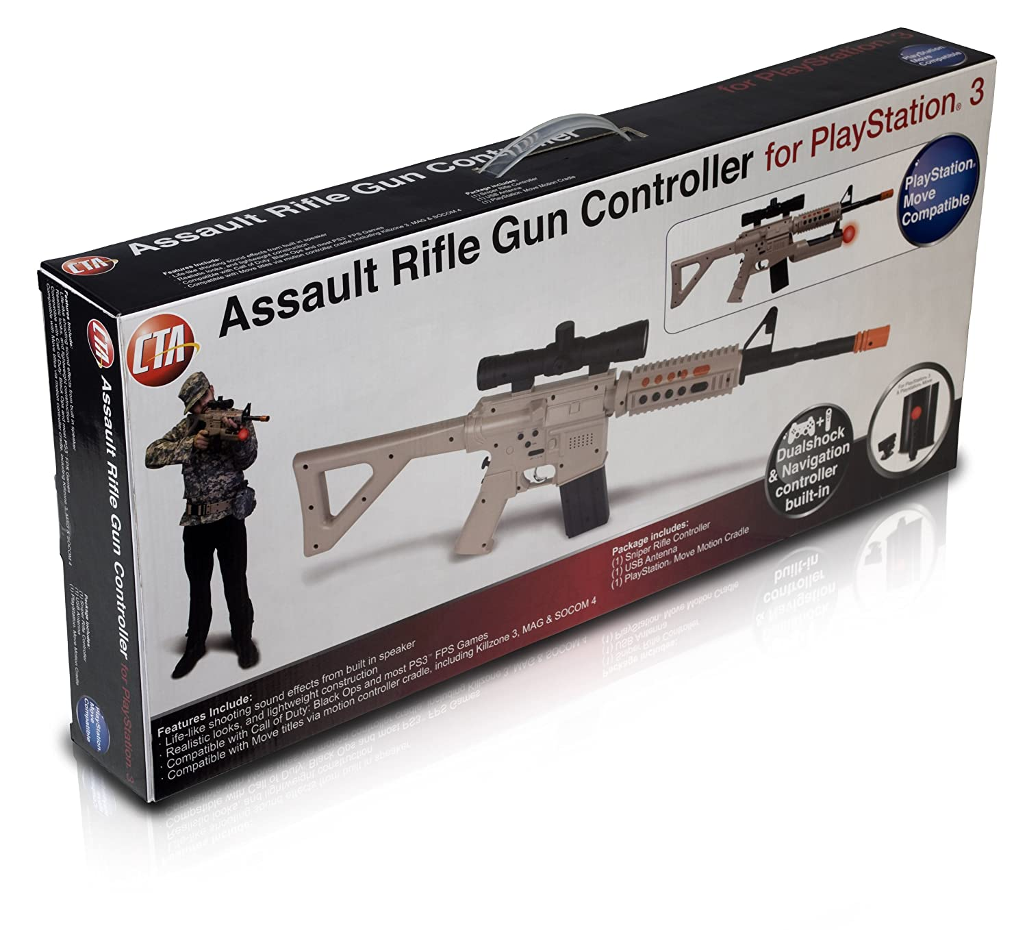 PS3 / PS3 Move Assault Rifle Controller - Standard Edition