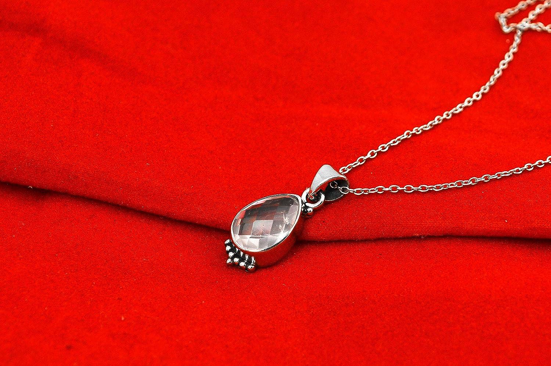 Orchid Jewelry Femmes Pendentif / Am/éthyste Grenat Quartz Argent Sterling 925