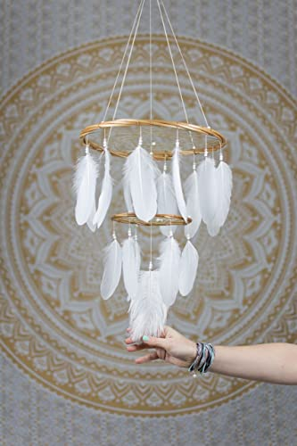 Amazon white chandelier dream catcher mobile 12x18inches white chandelier dream catcher mobile 12x18inches dreamcatcher mobile dreamcatcher mobile bohemian dream catcher nursery mobile aloadofball Image collections