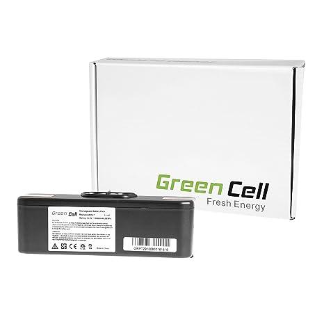 Green Cell® Batería de Aspirador para iRobot Roomba 618 (Li-Ion celdas 6Ah