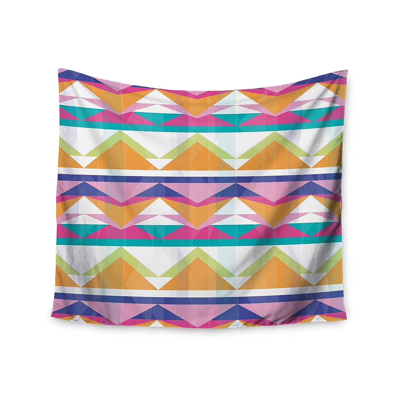 Kess InHouse Miranda MOL Triangle Waves Geometric Pattern Wall Tapestry 51 x 60