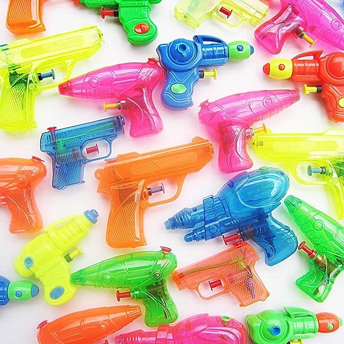 German Trendseller® - 6 x Mega Pistolas de Agua Mezcla┃Party Pack┃Pool Guns┃Fiestas Infantiles┃ Idea de Regalo┃piñata┃cumpleaños de niños┃6 Piezas: Amazon.es: Juguetes y juegos