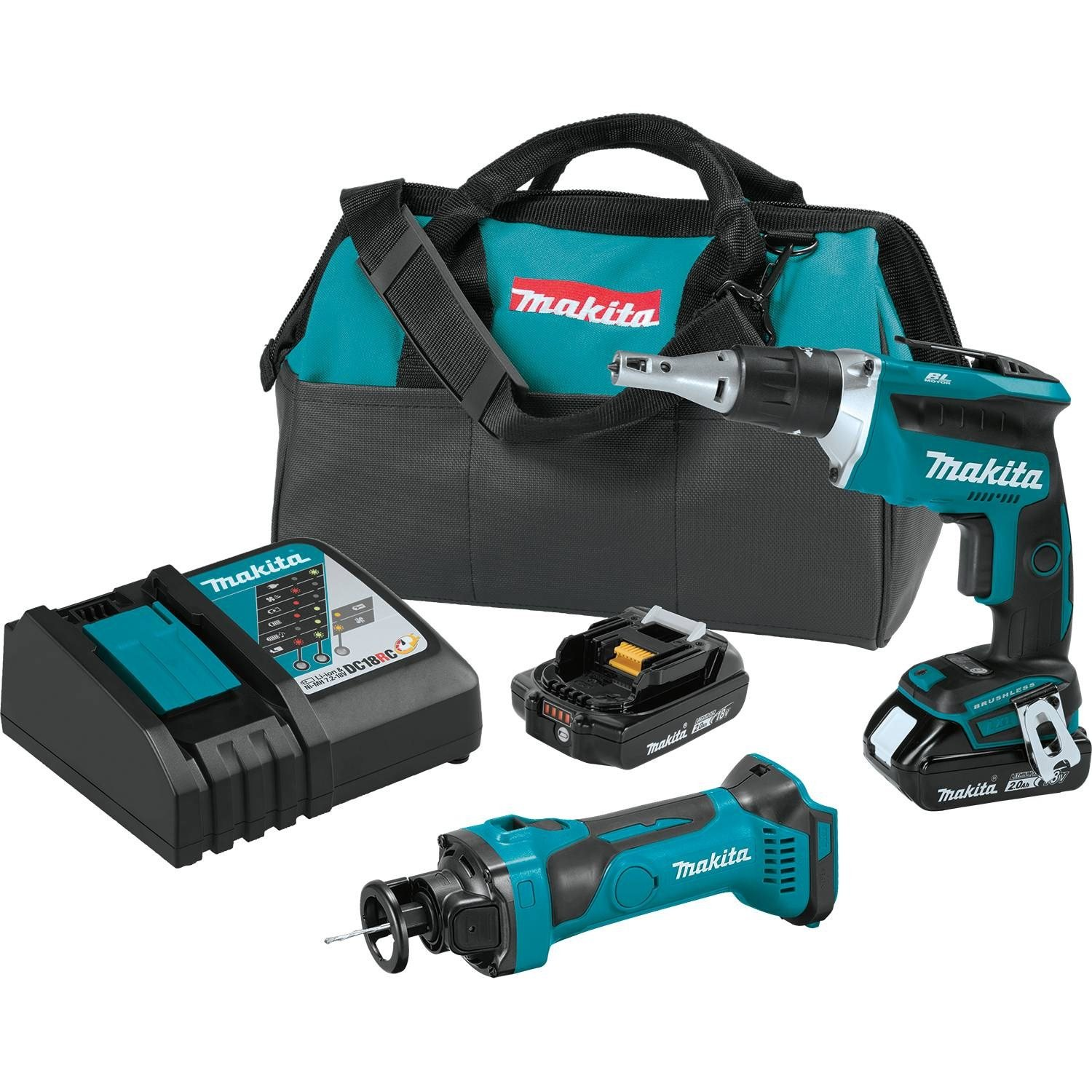Makita XT255R 18V LXT Lithium-Ion COMPACT Cordless 2-Pc. Combo Kit 2.0Ah