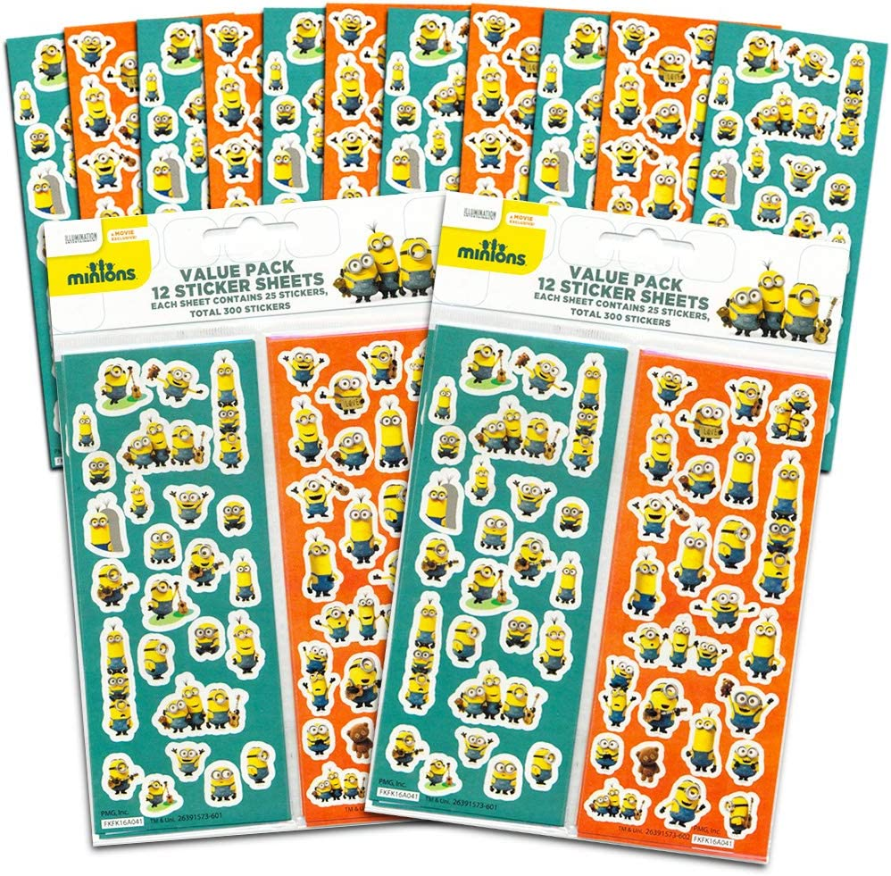 24 Sticker Sheets Despicable Me Minions Stickers Party Favor Pack 600 Stickers Party Supplies