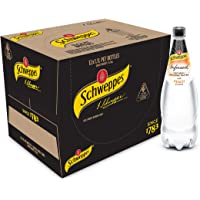 Schweppes Infused Natural Mineral Water with Peach, 12 x 1.1L