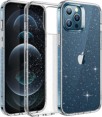 Esr Klare Glitzer Hülle Kompatibel Mit Iphone 12 Pro Elektronik
