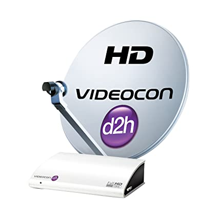 Videocon d2h HD Set Top Box with 12 Months Super Gold Pack & 12 Months HD  Access Free