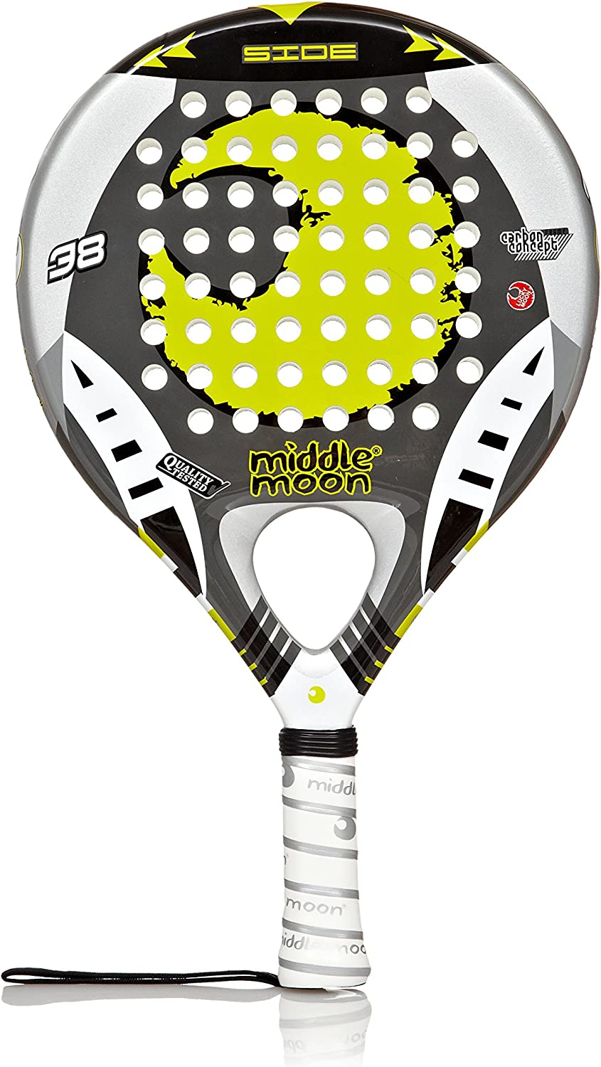 Middle Moon Pala Padel Side Amarillo/Gris Única: Amazon.es ...