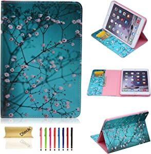 Dteck iPad 5th/6th Generation Case, iPad 9.7 2018/2017 Case,iPad Air Case Slim Fit Leather Smart [Auto Sleep/Wake Feature] Protective Cover Case for iPad Air 1 /iPad Air 2, Pear Flower