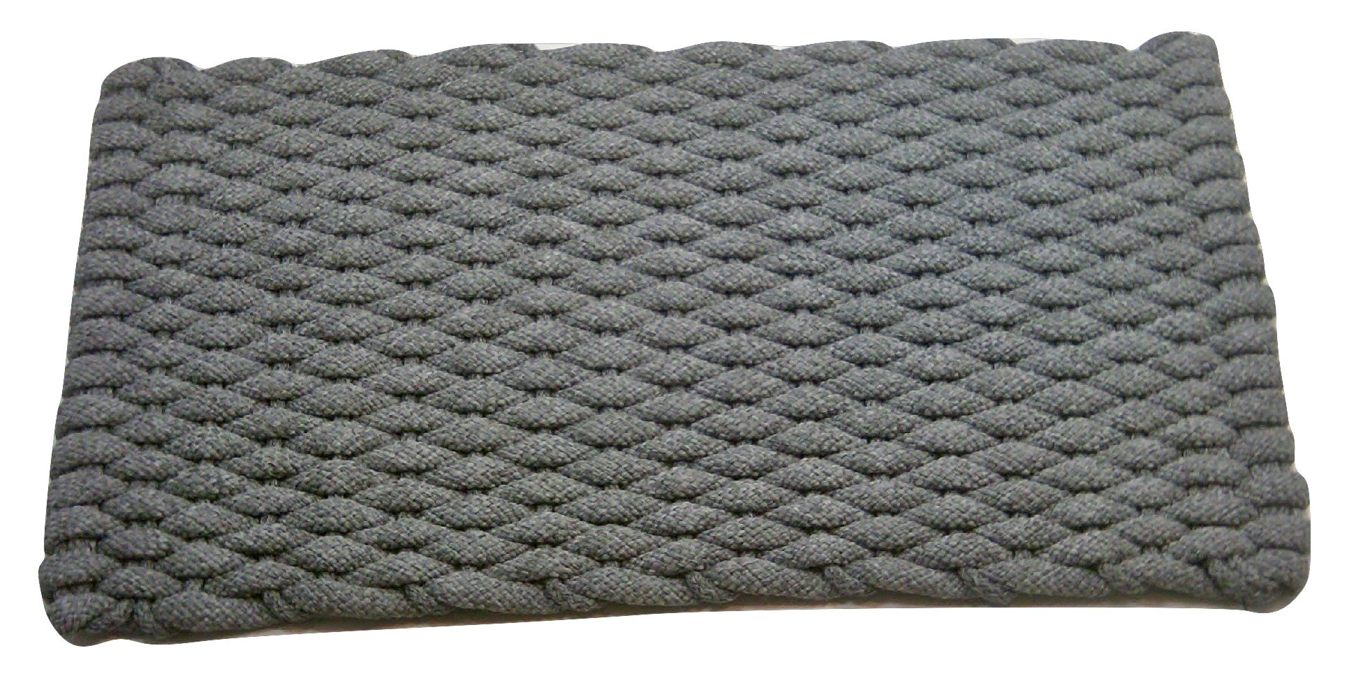 Rockport Rope 2438600 Super Duty Pet Mat, 24'' x 38'', Large, Gray