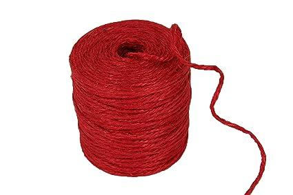 Burlap Jute Rope 3 Ply 75yd Spool Choose Color (RED)