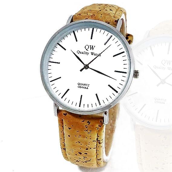 BazarTamara✮ Relojes de Pulsera, Reloj de Hombre Exclusivo Pulsera de Corcho Natural Reloj Analógico