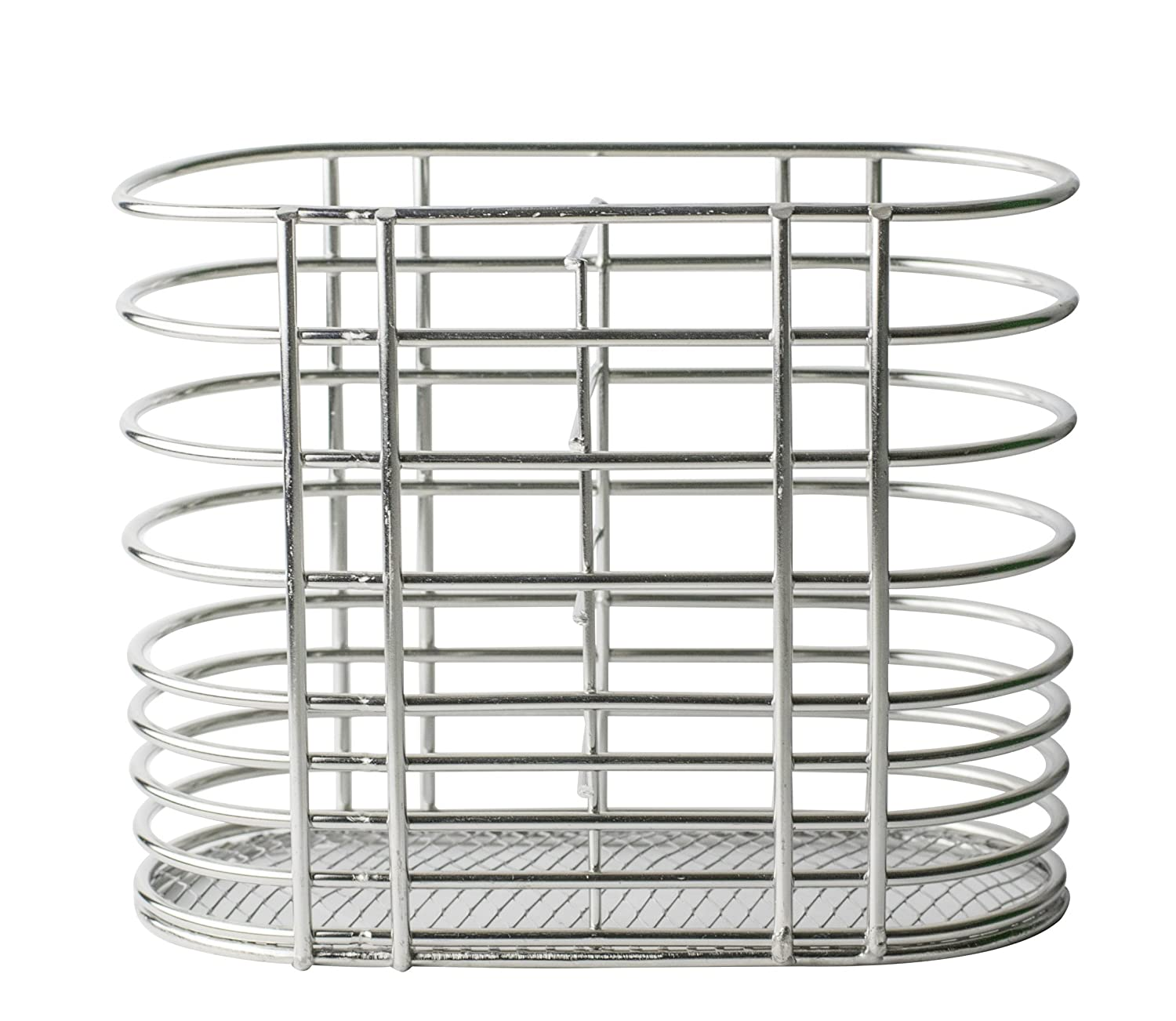 Chopsticks and Straw Holder Basket for Dishwashers - Stainless Steel. Holds chopsticks, straws, cutlery, utensils without falling through