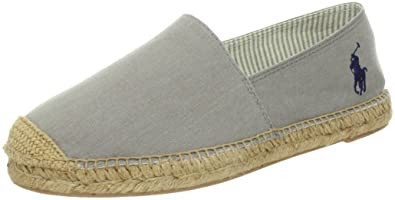 Polo Ralph Lauren Mooretown Mens Gray Canvas Espadrilles Shoes Size UK 8.5 510406f4730d