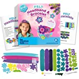 Bracelet and Headband Kit for Smarter, Happier Children. Kids Crafts for girls 5+. Easy Jewelry Craft Kits with 4 Bracelets & 6 Headbands.