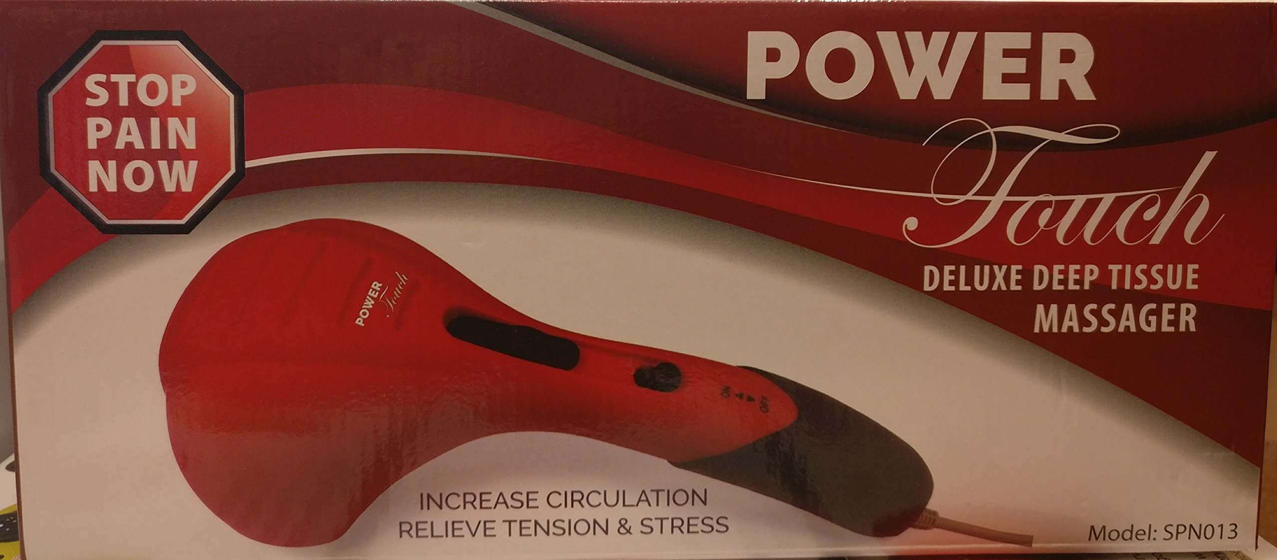 Power Touch Deluxe Deep Tissue Massager Red