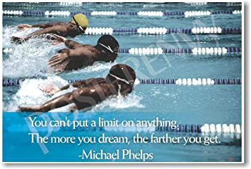 The More You Dream   Michael Phelps Quote   Motivational Classroom Poster