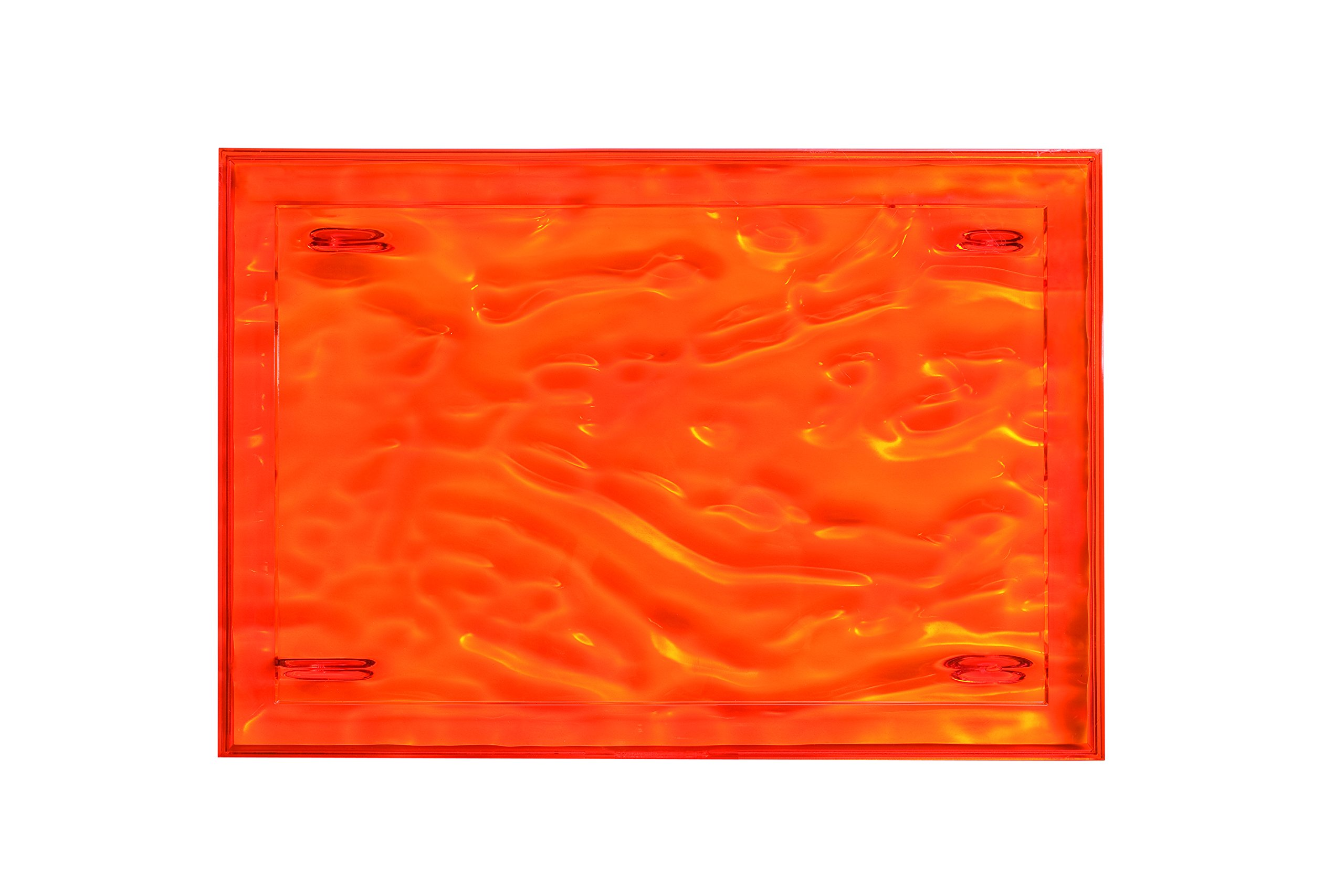 Kartell 1200/VA Dune Tray by Mario Bellini, Pack of 4, Transparent Orange