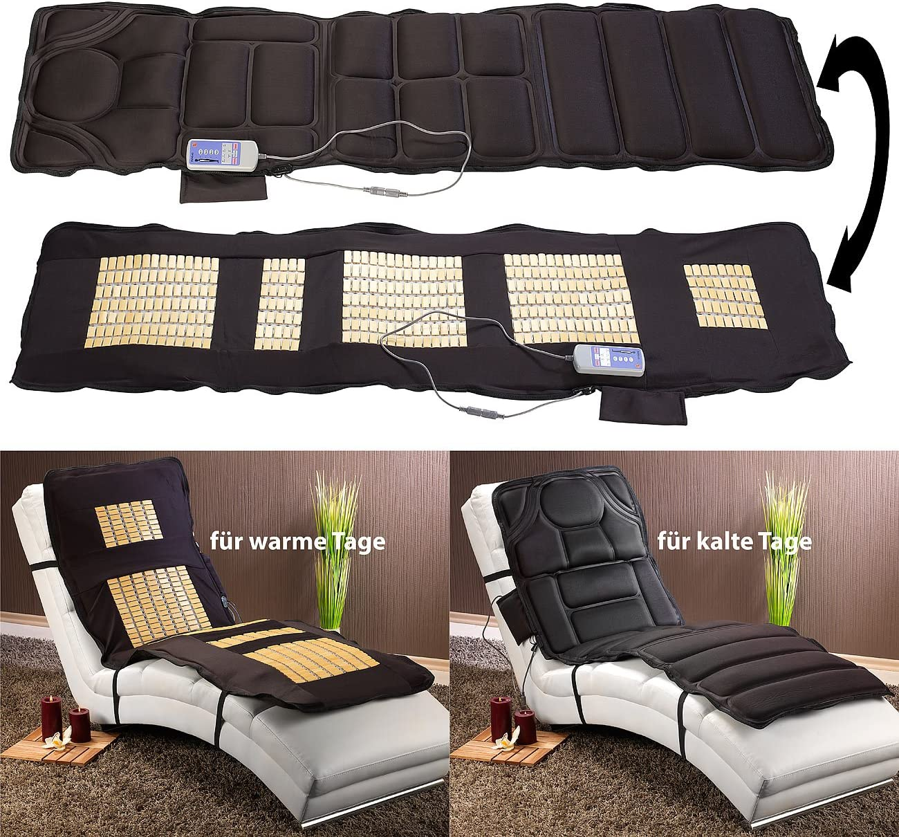 Elektronische Massageauflage für Betten, Couch und Sessel