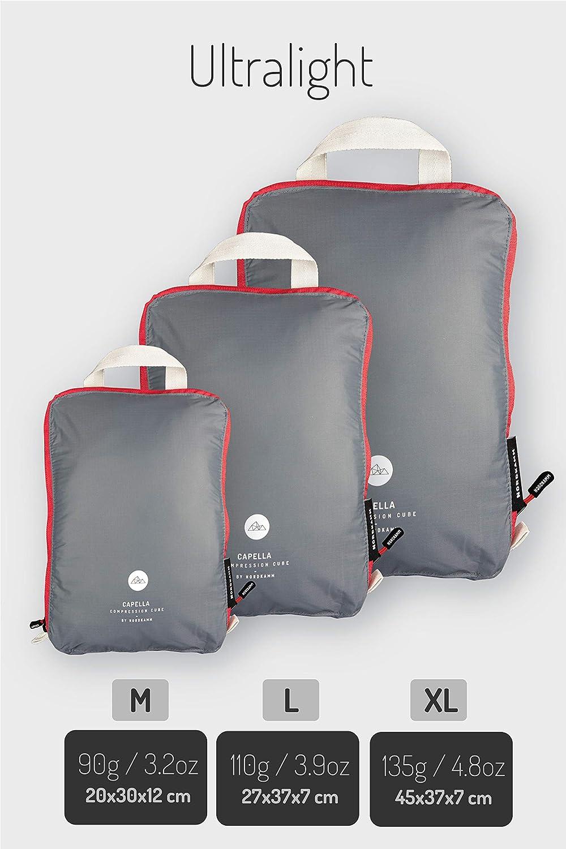 NORDKAMM Organizadores para Maletas de compresión, Packing Cube, Organizador Maleta, Organizador de Equipaje, Bolsas de compresión de Equipaje, ...