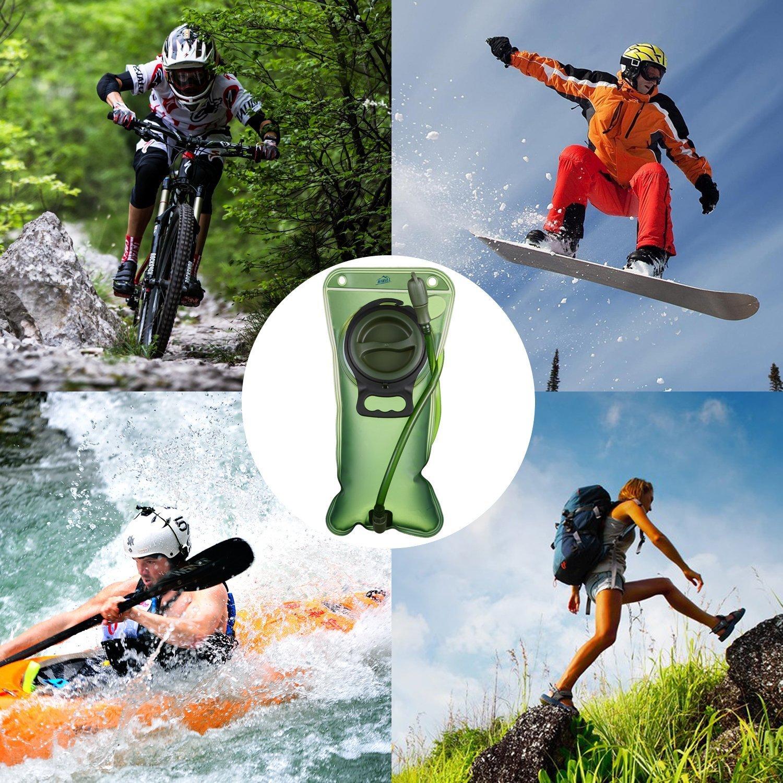 Bolsa de Agua Port/átil de 2 Litro HiHiLL Bolsa de Agua Deportiva para Usos en Espacios Exteriores Ciclismo Senderismo Excursionismo Camping