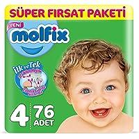Molfix 3D Bebek Bezi Maxi 4 Beden, Super Fırsat Paketi 76 Adet