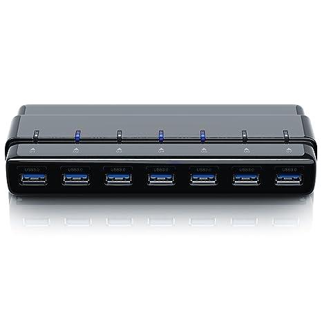 CSL – Distribución/Hub USB 3.0 de 7 puertos con fuente | datos HUB para