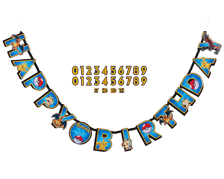pokemon happy birthday banner