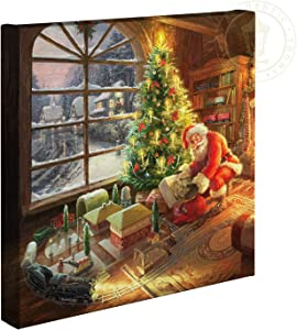Thomas Kinkade Studios Lionel Santa's Special Delivery 14 x 14 Gallery Wrapped Canvas