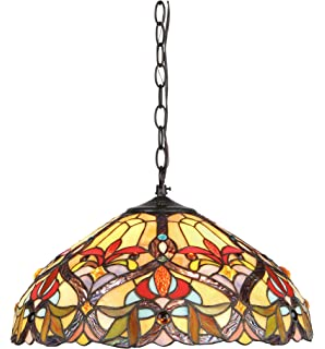 Chloe Lighting CH33352VR18 DH2 Tiffany Style Victorian 2 Light Ceiling Pendant  Fixture 18
