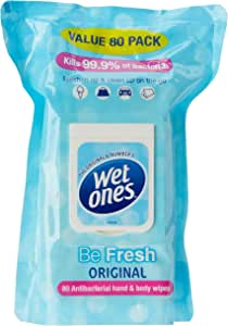 Wet Ones Be Fresh Value Pack, 80 Wipes