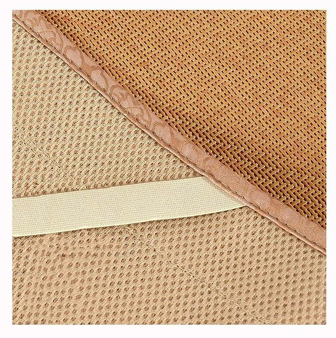 Cubierta de colchón bordado transpirable estera de ratán ...