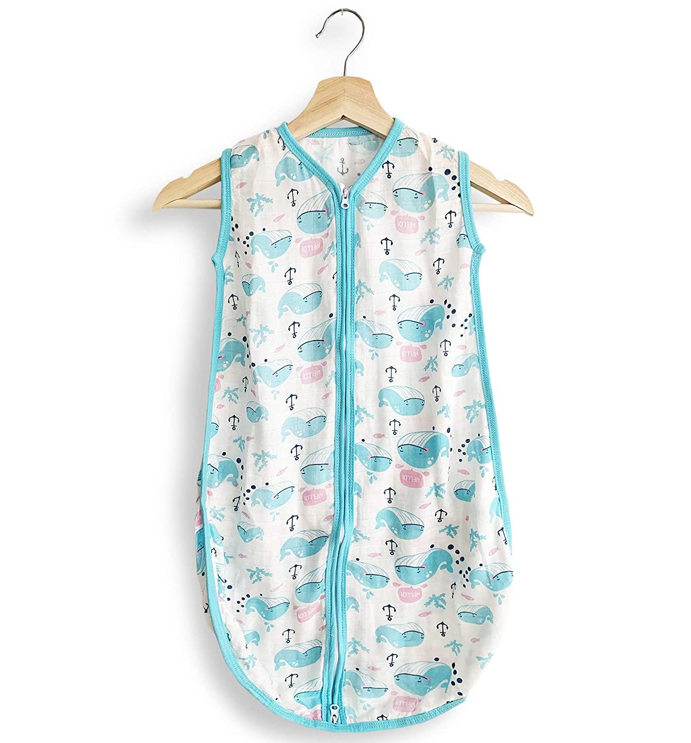 Super Soft and Breathable Baby Wearable Blanket Hypoallergenic Baby Sleepwear Eco-Friendly Lightwear Baby Sleep Sack Bamboo Baby Sleep Sack Organic Cotton Sleeping Bag