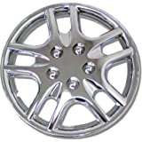 TuningPros WSC-523C15 Chrome Hubcaps Wheel Skin Cover 15-Inches Silver Set of 4