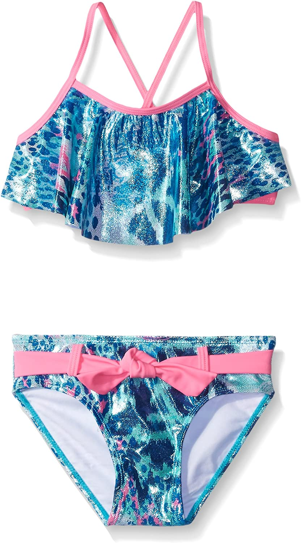 Limited Too Girls Animal Foil Bikini