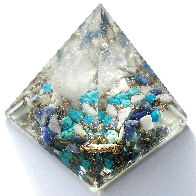 オルゴナイト オブジェ ピラミッド 水晶 50×50mm B00Q6Z0GD4