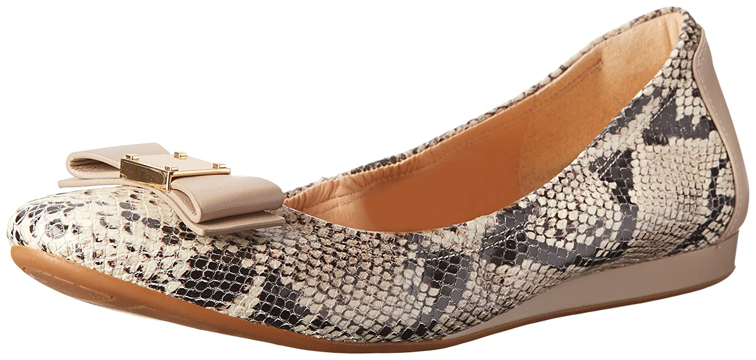 Cole Haan Women's Tali Bow Ballet Flat B00L5HZKH0 8  C US|Natural Roccia Snake Print