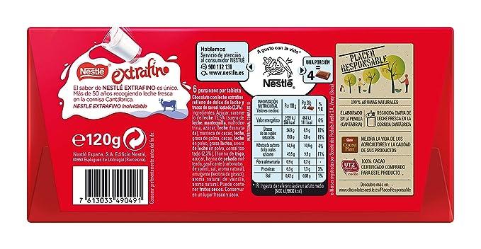 Nestlé Extrafino Dulce de Leche - Tableta de Chocolate 120 gr ...