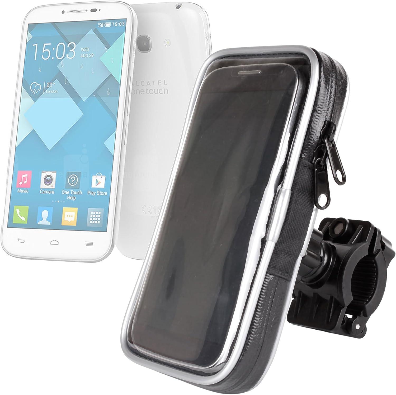 DURAGADGET Montaje Giratorio para Bici De Montaña Y Funda para Alcatel One Touch Pop S9 / S7 / S3