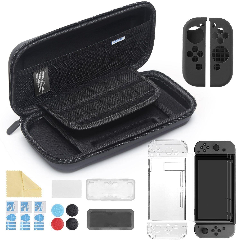 iAmer 11 en 1 Accesorios para Nintendo Switch, con Funda...