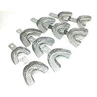 Dental Metal Impression Tray Pack of 20 Pics.(L0,L1,L2,L3,L4 Size AND U0,U1,U2,U3,U4 size) Indian trays for Students