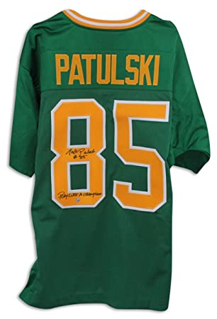 Walt Patulski Notre Dame Fighting Irish Autographed Green Jersey  Inscribed quot Play Like A Champion quot  df69aba0e